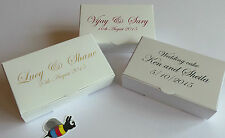 PERSONALISED x 25  Wedding Favour Cake Boxes 100x60x30mm - only £19.69