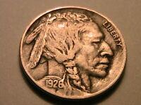 1926-D Buffalo Nickel Ch VF Nice Grey Toned Original Indian Head 5C USA Coin