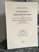 Enseñanza de la Historia París Relación Instituto Michel Floreado 1978-2001