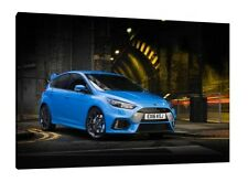 2016 Ford Focus RS - 30x20 Inch Canvas Framed Picture Print Art