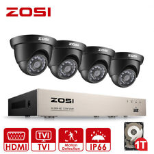 ZOSI 8CH 1080N DVR 720P CCTV Home Security Cameras System Surveillance 1TB Dome