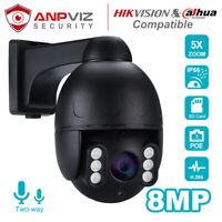 Hikvision Compatible Anpviz security PTZ Camera 8MP 5X Zoom POE H.265 IP66 Onvif