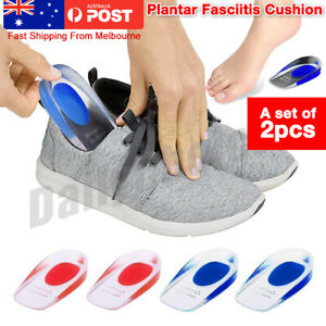 Heel Pain Relief Plantar Fasciitis Cushion Gel Support Insoles Pad Shoe Cushion