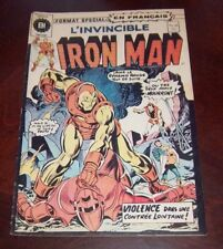 Editions Heritage Invincible Iron Man # 28 1976 French Edition Black White