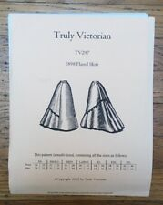 Truly Victorian TV297 Sewing Pattern 1898 Flared Skirt UNCUT Antique Vintage