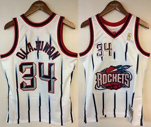 Hakeem Olajuwon Houston Rockets Mitchell & Ness NBA Authentic 1996-1997 Jersey