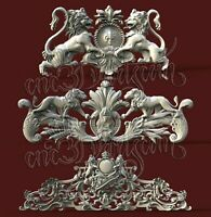 3 3D STL Models Furniture Decor for CNC Router Carving Machine Artcam aspire