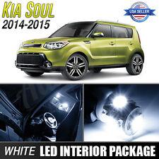 White LED Interior Lights Package Kit for 2014-2016 Kia Soul