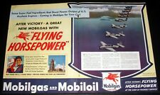 1944 OLD WWII MAGAZINE PRINT AD, MOBILGAS AND MOBILOIL, TORPEDO NAVY AVENGERS!