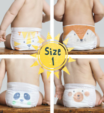 Kit & Kin Eco Disposable Nappies- Biodegradable Baby Nappies- Size 1 | 160 pack