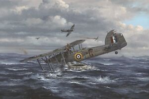 Limited Edition Aviation Print Channel Dash Heroes by Philip E West (Swordfish)