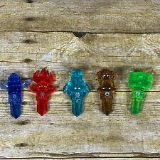 Skylander Trap Team 5 Traptanium Crystals: Water, Fire, Air, Earth, Life