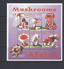 SIERRA LEONE MUSHROOMS CHAMPIGNONS  souvenir sheet VF MNH