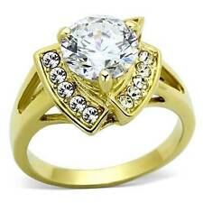 Heart Unbranded Yellow Gold Plated Solitaire Costume Rings