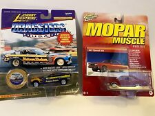 Johnny Lightning 1967 Plymouth GTX Mopar Muscle Detailed Car w/Real Riders LOT