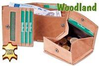 Woodland - Wiener Schachtel - Büffelleder - Premium Qualität - Geldbörse Cognac