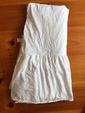 Ll Bean White 100% Cotton Bedskirt/ Dust Ruffle 14� Drop King Portugal, Soft