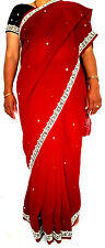 Indian Bollywood Ethnic Traditional Asain Saree Sari Wedding Party Wear Blouse