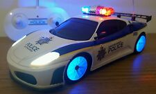 FERRARI SPIDER POLICE CAR RADIO REMOTE CONTROL CAR LED SIREN SOUND - FAST SPEED