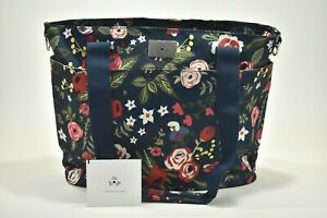 Jujube Diaper Bag Encore Tote, Midnight Posy, NWT, Flowers Blue Red Green