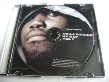 De La Poudre Au Rap Vol 2. - CD Rap Francais / Disque Seulement - Disc Only