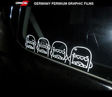 4 Pics Domo-kun cute funny rear window JDM Car vinyl Decal Sticker #002