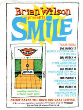 More details for brian wilson (beach boys) ~ original 2004 uk smile promotional concert flyer~new
