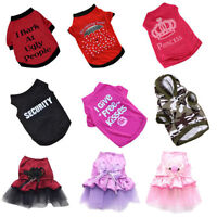 EG_ Pet Winter Clothes Puppy Dog Cat Vest T Shirt Coat Dress Sweater Apparel Nov
