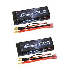 2X Gens ace 5000mAh 7.4V 50C/100C 2S LIPO BATTERY LOSI SCTE SC10 VENOM REDCAT