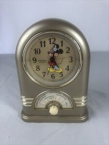 Vintage Seiko Quartz Mickey Mouse Musical Jukebox Alarm Clock 7 Songs Works