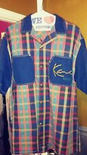 Vintage Karl Kani Jeans Throwback Plaid Shirt xxl 2xl Rare!