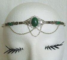 Green Agate Circlet, renaissance medieval victorian art nouveau art deco tudor