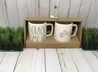 NEW Rae Dunn Set Easter Spring CRACK ME UP  & Easter Eggs Mugs Farmhouse Set - 2