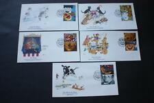 SET GREETINGS 1990 STAMPS GREAT BRITAIN GB UK FLEETWOOD FIRST DAY COVERS FDC