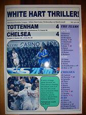 Tottenham Hotspur 4 Chelsea 4 - 2008 - souvenir print