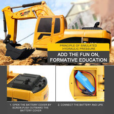 1/24 RC Excavator RC Car Construction Tractor Kids Toy with Lights & Sounds N7K2