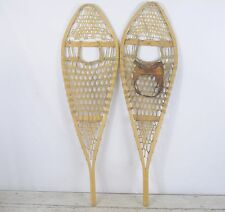 Antique/Vintage Wood Gros Louis Snowshoes Wood And Leather Good Condition