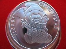 1-OZ.CUTE VINTAGE CHRISTMAS  PUPPY IN STOCKING .999  SILVER 2001  COIN + GOLD