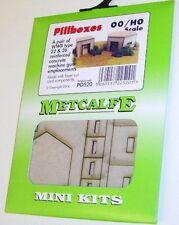 Metcalfe PO520 Mini Kit Pillboxes x 2, Laser Cut Card Kit - 00 Railway Model Kit