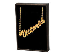 Name - Name Chain Anniversary Jewelry Victoria 18ct Gold Plating Necklace With
