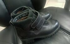 LL Bean Womens BLACK Leather Suede Velcro Boots Size 6 M Hiking, Made in Canada