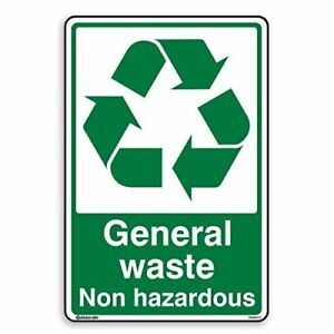 General Waste - Recycling Sign - Self Adhesive Sticker