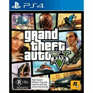 GRAND THEFT AUTO V GTA 5 (PlayStation 4 PS4) Fast Express Postage 📮