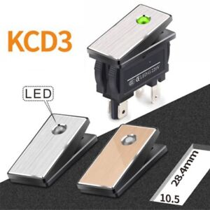 5Pcs rocker switch 2NO waterproof with light red and green24V220V metal material