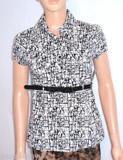 IZ BYER CALIFORNIA  Womans Juniors Casual Career Blouse Belted Stretch size S
