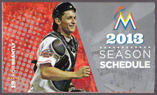 MIAMI MARLINS THE MIAMI HERALD BASEBALL POCKET SCHEDULE ROB BRANTLY ON COVER