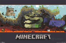 Minecraft World Video Game Poster Poster Print, 34x22