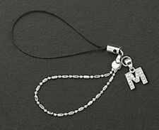 Letter M Crystals Cell Phone Charm For Mobile Phone New