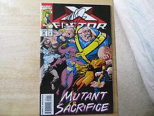 1993 MARVEL COMICS X-FACTOR # 94 MUTANT SACRIFICE SIGNED BY J.M. DEMATTEIS, POA