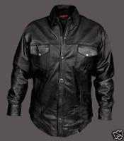 Men's Leather Shirt  Long Sleeve Shirt  New